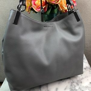 NWT Vince Camuto Gray Leather Rhys Tote